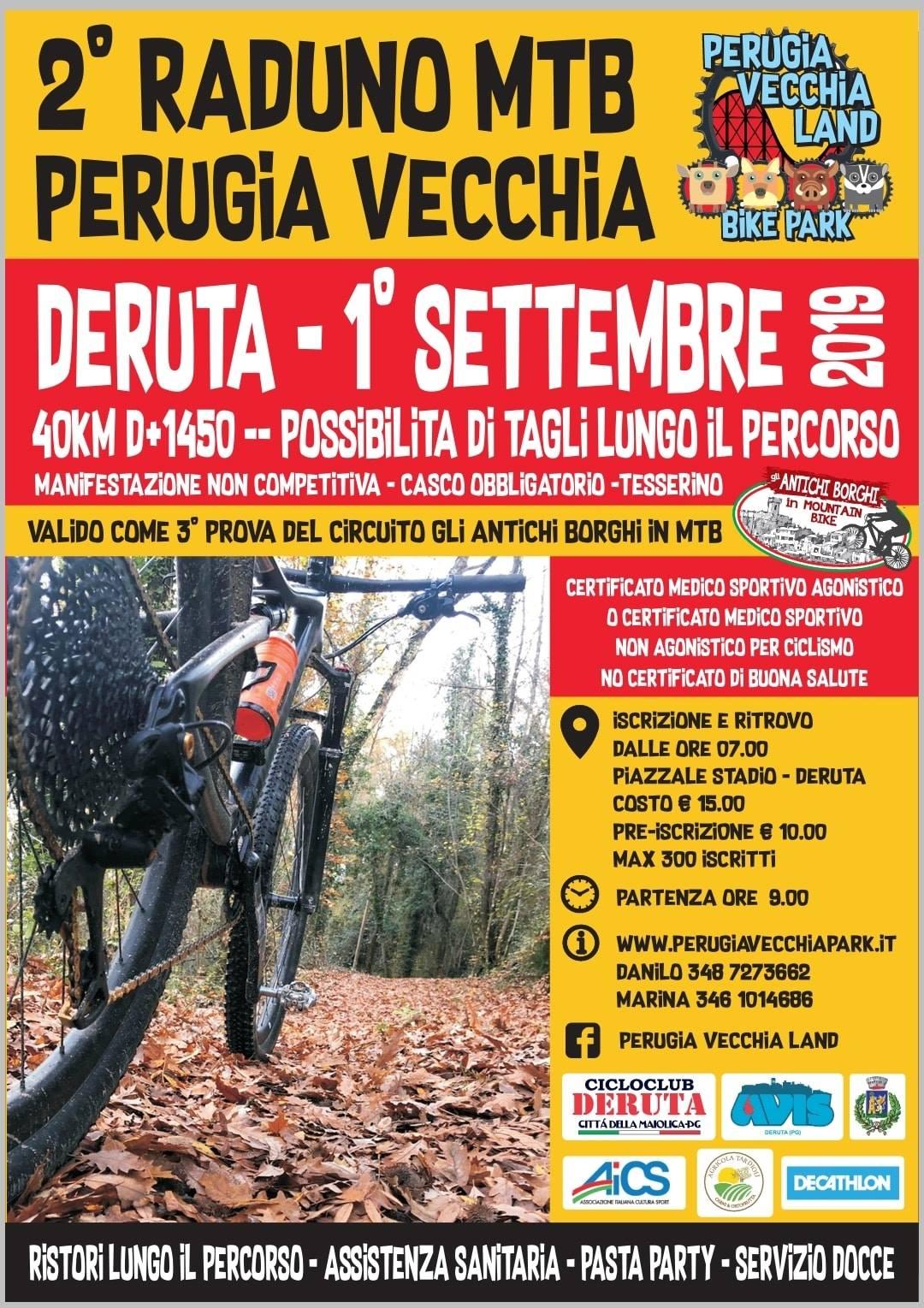 Locandina Raduno Perugia Vecchia Land 2019